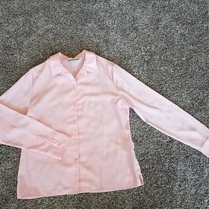 Women's Investments Pink ButtonDown Dress Shirt10